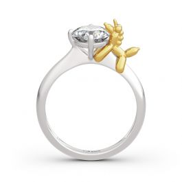 "Jeulia Hug Me ""Balloon Unicorn"" Round Cut Sterling Silver Ring"