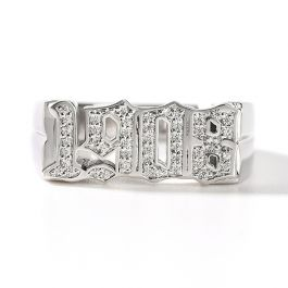 "Jeulia ""Unique Memory"" Personalized Sterling Silver Ring"