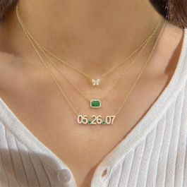 """Jeulia """"Stay With Me"""" Sterling Silver Layered Necklace"""