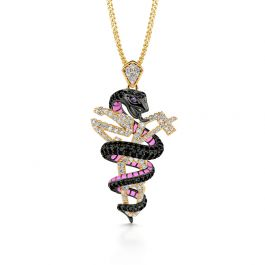 """Jeulia """"Mamba Mentality"""" Sterling Silver Memorial Necklace"""