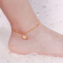 Jeulia Initial Tag Personalized Sterling Silver Anklet