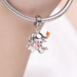 Ghost Dog Lantern Nose Charm Pendant S925 Sterling Silver