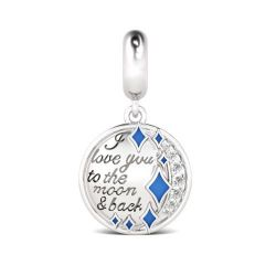 I Love You to the Moon and Back Sterling Silver