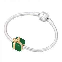 Chic Christmas Gift Box Charm Sterling Silver