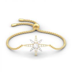 Jeulia Two Tone Star Sterling Silver Bracelet