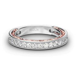 Jeulia Scrollwork Sterling Silver Women's Band