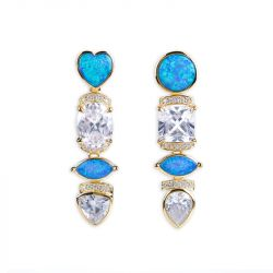 Jeulia Twinkle Twinkle Opal Earrings