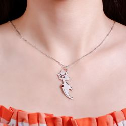 Jeulia Mermaid Personalized Sterling Silver Necklace