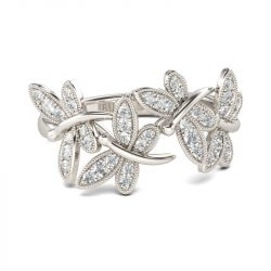 Jeulia Dragonfly Sterling Silver Band