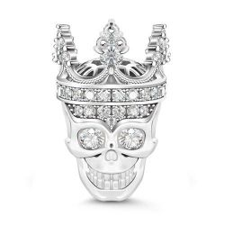 Skull Queen Sterling Silver Charm