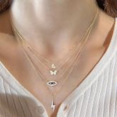 """Jeulia """"Give Me Everything"""" Sterling Silver Layered Necklace"""