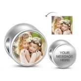Round Shape Engravable Charm Sterling Silver