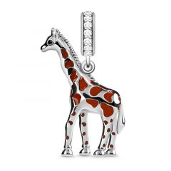 """Independent and Noble"" Giraffe Charm Pendant Sterling Silver Fit For Necklace"