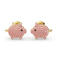 Jeulia Cute Pig Design Sterling Silver Stud Earrings