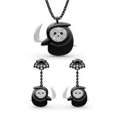 "Jeulia ""Grim Reaper"" Sterling Silver Jewelry Set"