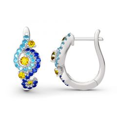 Jeulia The Starry Night Inspired Sterling Silver Earrings