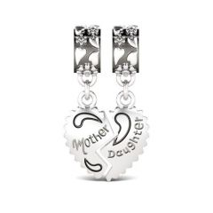 Mother & Daughter Charm Sterling Silver