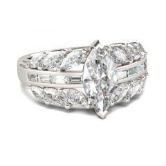 Jeulia Modern Marquise Cut Sterling Silver Ring