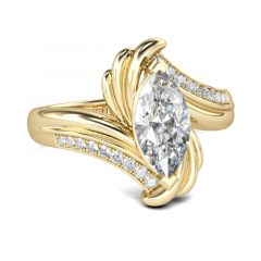 Jeulia Bypass Marquise Cut Sterling Silver Ring